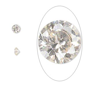 gem, cubic zirconia, champagne, 4mm faceted round, mohs hardness 8-1/2. sold per pkg of 5.