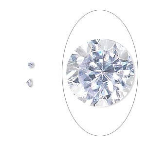 gem, cubic zirconia, lavender, 3mm faceted round, mohs hardness 8-1/2. sold per pkg of 10.