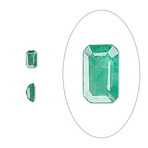 gem, emerald (oiled), 5x3mm faceted emerald-cut, b grade, mohs hardness 7-1/2 to 8. sold individually.