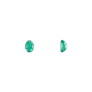 gem, emerald (oiled), 6x4mm faceted oval, b grade, mohs hardness 7-1/2 to 8. sold individually.