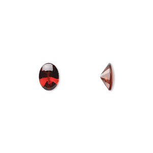 gem, garnet (natural), 8x6mm buff-top oval, a grade, mohs hardness 7 to 7-1/2. sold per pkg of 2.
