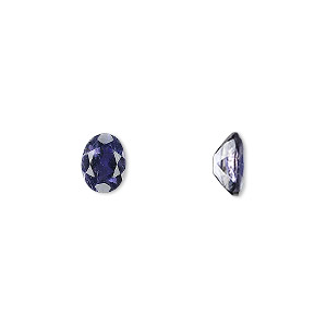 gem, iolite (natural), 8x6mm faceted oval, a grade, mohs hardness 7 to 7-1/2. sold individually.