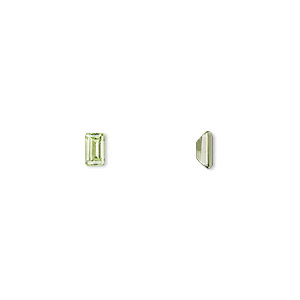 gem, peridot (natural), 5x3mm faceted emerald-cut, a grade, mohs hardness 6-1/2 to 7. sold per pkg of 4.
