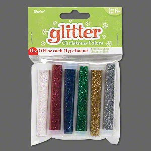 glitter, assorted christmas colors. sold per pkg of (6) 0.14 ounce tubes.