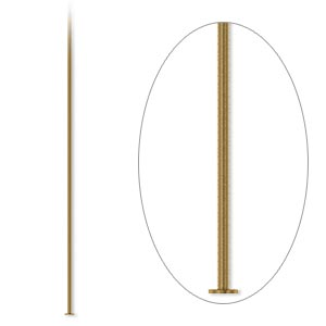 headpin, antique gold-plated brass, 2 inches, 24 gauge. sold per pkg of 500.
