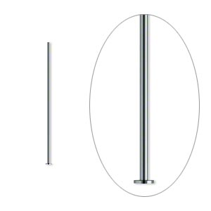 headpin, gunmetal-plated brass, 1 inch, 24 gauge. sold per pkg of 500.