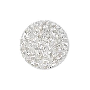 iron-on transfer, swarovski hotfix crystal rocks, crystal silver shade, 24mm round (72013). sold individually.
