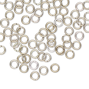 jumpring, anodized aluminum, bronze, 4.5mm round, 2.9mm inside diameter, 20 gauge. sold per pkg of 100.