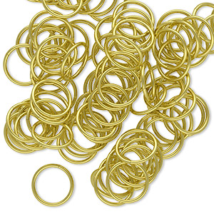 jumpring, brass, 9mm round, 7.5mm inside diameter, 20 gauge. sold per pkg of 100.