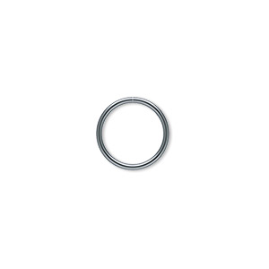 jumpring, gunmetal-plated brass, 12mm round, 10mm inside diameter, 18 gauge. sold per pkg of 100.