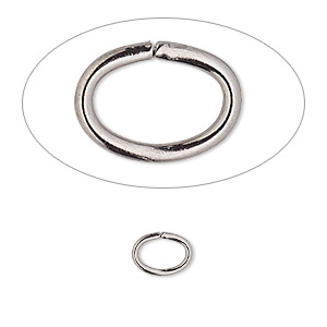 jumpring, gunmetal-plated brass, 8x6mm oval, 6.2x4.1mm inside diameter, 18 gauge. sold per pkg of 100.