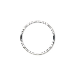 jumpring, sterling silver, 20mm soldered round, 18.2mm inside diameter, 19 gauge. sold per pkg of 2.
