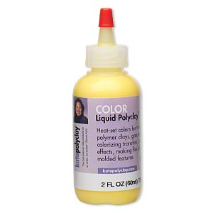 kato polyclay™ medium liquid, transparent yellow. sold per 2-fluid ounce bottle.