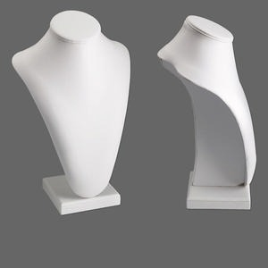leatherette long pedestal display, white. 9in wide x 6in deep x 13-1/2in high. sold individually.