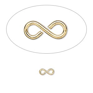 link, gold-plated brass, 7x3mm figure 8. sold per pkg of 500.