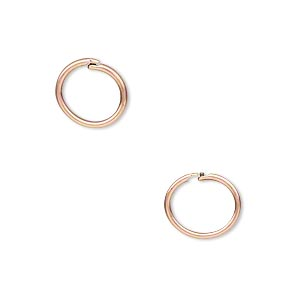 loop lock™, jbb findings, antique copper-plated brass, 10mm round. sold per pkg of 4.