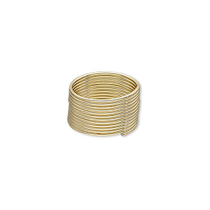 memory wire, gold-plated high carbon steel, 1/2 inch toe ring, 0.7mm thick. sold per 1-ounce pkg, approximately 208 loops.