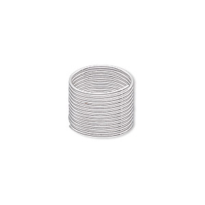 memory wire, imitation rhodium-plated high carbon steel, 1/2 inch toe ring, 0.7mm thick. sold per pkg of 12 loops.