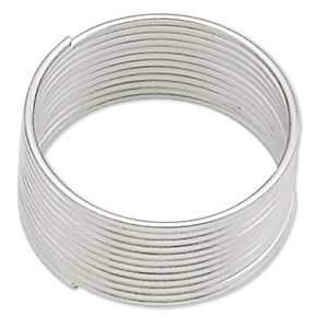 memory wire, stainless steel, 1/2 inch toe ring, 0.65-0.75mm thick. sold per 1-ounce pkg, approximately 250 loops.