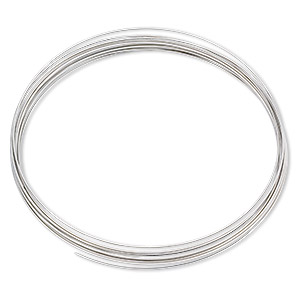 memory wire, stainless steel, 3-5/8 inch necklace, 0.6-0.75mm thick. sold per 1-ounce pkg, approximately 30 loops.
