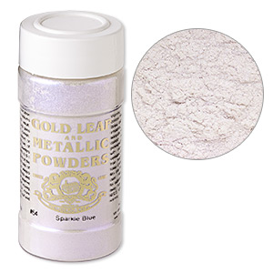 mica powder, gold leaf  metallic powders, sparkle blue. sold per 1-ounce jar.
