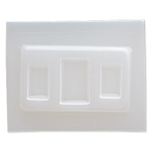 mold, deep flex™, plastic, (1) 34x22mm rectangle and (2) 26x16mm rectangle. sold individually.