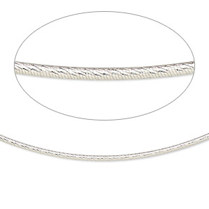 neckwire, sterling silver, 1.2mm diamond-cut snake chain, 16 inches with 2mm friction clasp. sold individually.