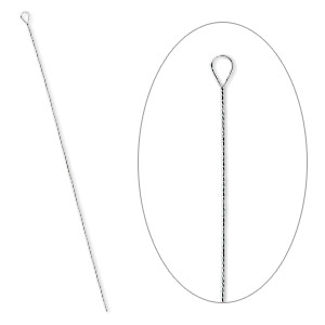 needle, stainless steel, 2-1/2 to 3-inch twisted, #8 light. sold per pkg of 100.