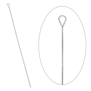 needle, steel, 2-1/2 to 3-inch twisted, #6 light. sold per pkg of 100.