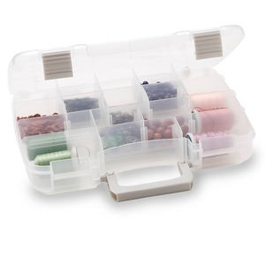 organizer, plano, plastic, clear, 11 x 8-1/2 x 2-1/4 inch box, 5-17 compartments. sold individually.
