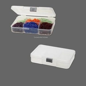 organizer, plastic, 5-3/4x4x1-1/4 inch rectangle with five fixed compartments. sold individually.
