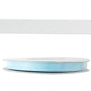 organza ribbon, nylon, light blue, 1/4 inch. sold per 33-yard spool.