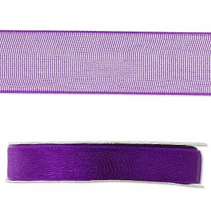 organza ribbon, nylon, purple, 1/2 inch. sold per 33-yard spool.