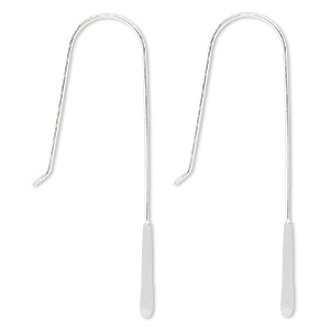 Hook Earwires Sterling Silver Silver Colored