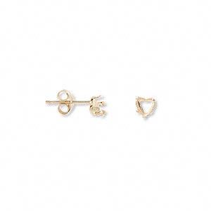 Earring Settings Karat Gold Gold Colored