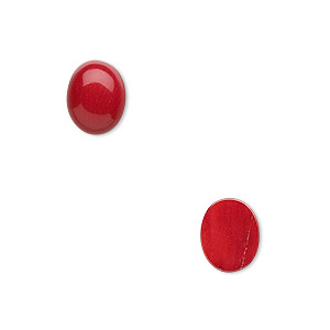 Cabochons Coral Reds