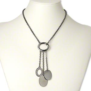 Y Necklaces Gunmetal Greys