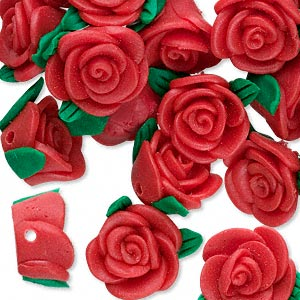 Beads Polymer Clay Reds