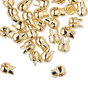 Squeeze Crimps Gold Plated/Finished Gold Colored