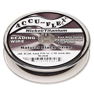 Beading Wire Nickel Titanium Blacks