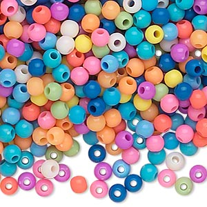 Beads Acrylic Mixed Colors