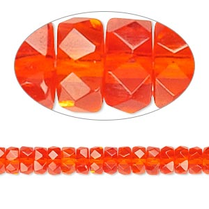 Czech Fire-Polished Glass Oranges / Peaches