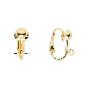 Clip-on findings Gold Plated/Finished Gold Colored