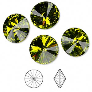 Point-Back Swarovski Olivine