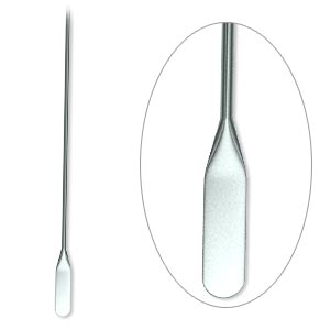 paddle pin, gunmetal-plated brass, 2 inches with teardrop, 22 gauge. sold per pkg of 500.