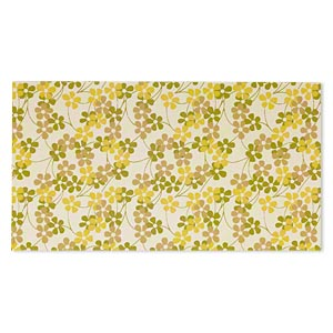 paper, cotton fiber, multicolored, 11x6-inch rectangle with floral design. sold per pkg of 2.