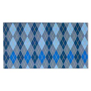 paper, cotton fiber, multicolored, 11x6 inch rectangle with single-sided argyle design. sold per pkg of 2 sheets.