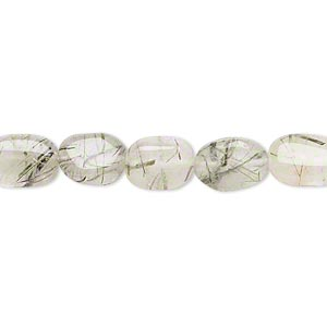 Beads Grade C Tourmalinated Quartz