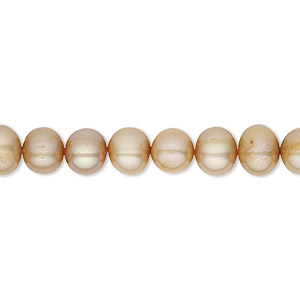 pearl, cultured freshwater (dyed), sand satin, 5-6mm semi-round, c grade, mohs hardness 2-1/2 to 4. sold per 16-inch strand.