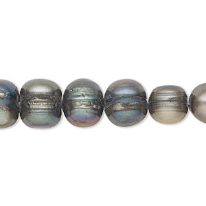 pearl, cultured freshwater (dyed), spruce, 8-9mm semi-round, c grade, mohs hardness 2-1/2 to 4. sold per 15-inch strand.